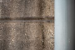 Water pipe on concrete wall for background royalty free stock photography