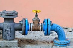 Water pipe control Stock Photos