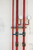 Water pipe drainage for fire protection. Stock Photography