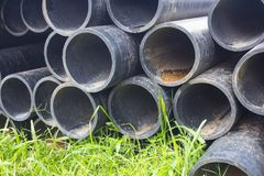 Water pipe pile Royalty Free Stock Images