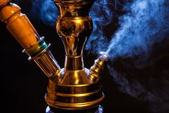 Water pipe with smoke Stock Image