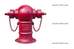 Fire hydrant on white background Stock Image