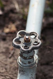Water pipe and valve Royalty Free Stock Image
