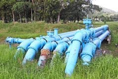Water pipeline Stock Photo