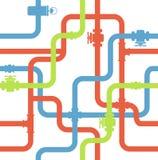 Water pipeline Stock Photos
