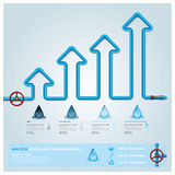 Water Pipeline Business Infographic Stock Photos