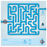 Water Pipeline Business Infographic Royalty Free Stock Photo