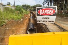 Water Pipeline Construction Stock Photos