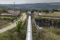 Water pipeline for drinking water supply Royalty Free Stock Photography