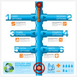 Water Pipeline Ecology And Environment Business Infographic Royalty Free Stock Photos
