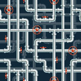 Water pipeline seamless pattern Royalty Free Stock Photos