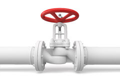Water pipeline with valve. Stock Images