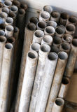 Water pipes. Old metal water pipes close up stock photography