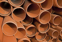 Water pipes. Water pipe stacked in a bundle Stock Image
