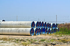 Water pipes. For transferring water supply Royalty Free Stock Image