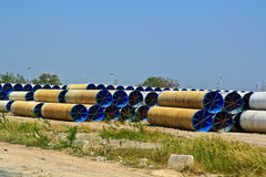 Water pipes. For transferring water supply Royalty Free Stock Images