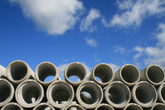 Water pipes. Stacked in a construction site Royalty Free Stock Photo