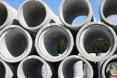 Water pipes. Stacked in a construction site Stock Photos