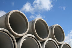 Water pipes. Stacked in a construction site Royalty Free Stock Images