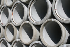 Water pipes. Stacked in a construction site Stock Images