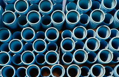 Water pipes. Blue water pipes Royalty Free Stock Image