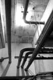 Water pipes. Hanging from ceiling Royalty Free Stock Images