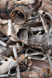Water pipes. Heap of rusty broken water pipes royalty free stock photography