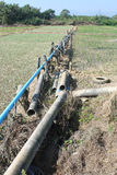 Water pipes connected to the peasant agriculture Stock Images