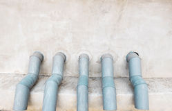 Water pipes. The pipes for conveying water Royalty Free Stock Images