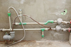 Water pipes with counters Stock Photography