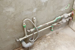 Water pipes with counters Royalty Free Stock Image