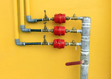 Water pipes and meter Stock Photos