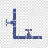 Water pipes with taps icon vector Stock Photo