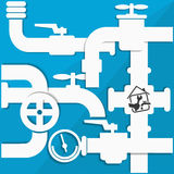 Water pipes and taps vector Stock Images