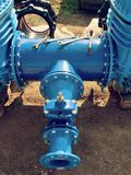 Water  piping with new Gate valves and reduction member Royalty Free Stock Photo