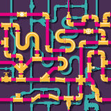 Water piping seamless pattern Stock Image