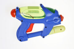 Water pistol. Childs water pistol against white background Royalty Free Stock Photography
