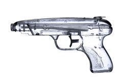 Water pistol. In x-ray-stile on white ground Royalty Free Stock Image