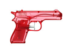 Water Pistol. Red Water Pistol on a white background Royalty Free Stock Photos