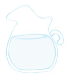 Water pitcher. Royalty Free Stock Photography