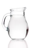 Water pitcher. A water pitcher against white background Stock Photo