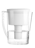 Water Pitcher Isolated. An isolated water pitcher on a white background Stock Photography