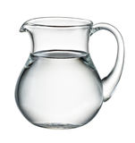 Water pitcher isolated on white. With clipping path Stock Image