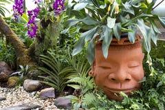 Water pitcher jug garden design Stock Photo