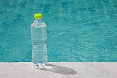 Water placed in the pool. Royalty Free Stock Photos