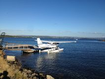Water plane stock image