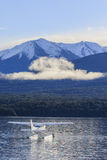 Water plane floating in lake te anau fiordland national park new Stock Photo