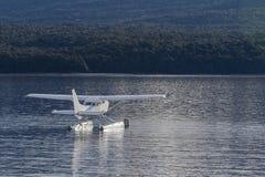 Water plane floating over te anau lake fiordland national park n Stock Photo