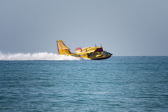 Water plane landing Royalty Free Stock Images