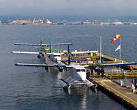 Water plane taxis Stock Photography